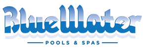 Blue Water Pools and Spas Retina Logo